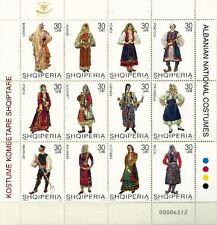 Albania 2004. NATIONAL FOLK COSTUMES. Set Sheet MNH. 2757-68