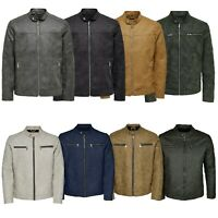 Only & Sons Mens Casual Jackets Long Sleeve Biker Stylish Outwear Coats