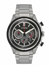 AUTHENTIC CITIZEN MEN'S TI+IP TITANIUM CHRONOGRAPH ECO-DRIVE WATCH CA4240-82E
