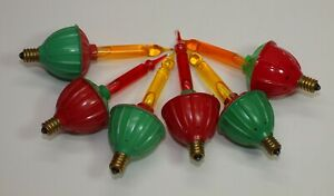 Vintage Noma? Lot of 6 Christmas BUBBLE LIGHT Replacement Bulbs Candelabra Base