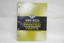 Harley 1989-2000 painted parts manual book 99489-00 FXR Softail Dyna FL EP20919