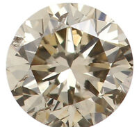 Natural Loose Diamond Brown Color Round Clarity I1 3.60 MM 0.19 Ct L5442