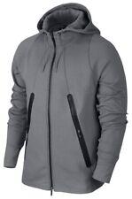 Nike Jordan Tech Lite Full Zip Fleece Hoodie Sz L Large Cool Grey Fuse Jacket