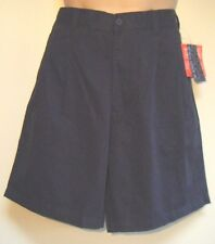 Mens Shorts Size 34 New Ex Catalogue brand Navy Blue Cotton Pleated BNWT