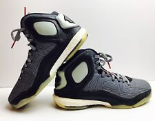 GLOW IN THE DARK Adidas D Rose 5 Boost Basketball Shoes Size 10.5 Black White