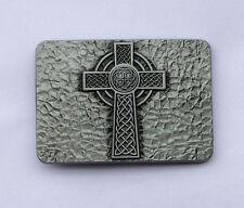 ✖ Medievel Style celtic Cross Belt Buckle ✖ Metal Antique Silver color us seller