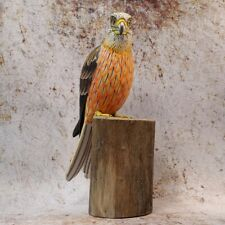 More details for red kite bird of prey hand carved and painted british bird ornament