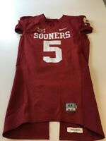 Game Worn Used Oklahoma Sooners OU Nike Football Jersey Size 44 #5 Durron Neal