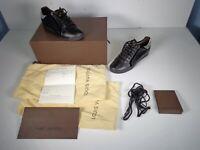 Louis Vuitton Clipper Black & Silver Sneakers LI 0088 Size 6 w/Box & receipt