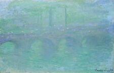 Waterloo Bridge London at Dusk 1904 by Claude Monet 75cm x 48cm Canvas Print
