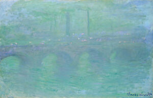 Waterloo Bridge 1901 by Claude Monet 75cm x 47.4cm Canvas Print