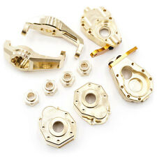 Yeah Racing Traxxas TRX-4 Brass Parts Set - Hubs Knuckles Hexes Portal TRX4-S01