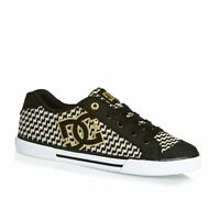 Scarpe skater donna DC shoes, art. Chelsea TX SE, col. black/gold