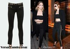 VERSACE MEDUSA Nero Leggings Pantaloni Pants come GIGI uk8 it40 us4 Auth abito