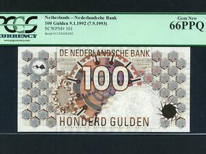 Netherlands:P-101,100 Gulden,1992 * PCGS Gem UNC 66 PPQ *
