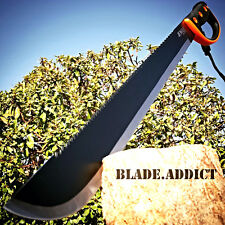 "24.5"" SURVIVAL JUNGLE HUNTING MACHETE KNIFE w/ SHEATH Military Fixed Blade Sword"