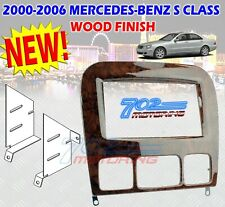 95-8726W MERCEDES-BENZ S CLASS 1998-2006 DOUBLE DIN DASH KIT CHERRY WOOD FINISH