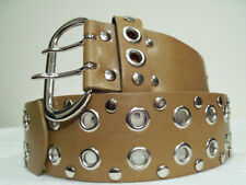 Women's Tan Fashion Leather Belt Size Large for 31-36 waist