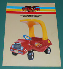 Vintage 1987 FLEXIBLE FLYER Catalog Fall Winter Tot Rod Swivel Chair Toys Wagon