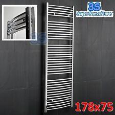 3S SCALDASALVIETTE CROMATO CURVO ROMA 178x75 cm interasse 70 CROMO TERMOARREDO