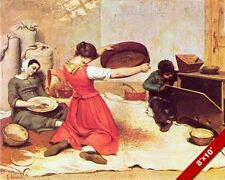 WOMEN SIFTING THE WHEAT FROM CHAFF PAINTING FARM FARMING ART REAL CANVAS PRINT