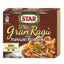 GRAN RAGU STAR CON FUNGHI PORCINI GR.180   KIT DA 9X2       TOTALE 18 LATTINE