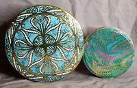 Daher Vintage DECORATIVE METAL TIN, Long Island New York  And another Tin