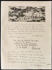 1926 - Lithographie citation Matsui, le Marquis Okuma, le Baron Makino.