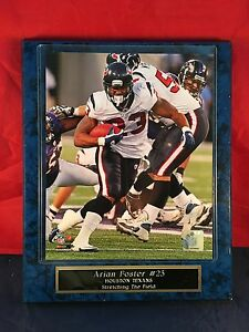 Arian Foster #25 NFL Licensed 8x10 photo mounted on a Plaque - Gym Decor