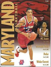 JUAN DIXON + 6 OTHER MARYLAND TERRAPINS RARE SIGNED TERRAPIN GAMEDAY PROGRAMS(6)