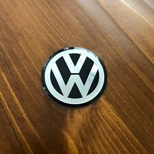 "New - Volkswagen™ VW Logo Chrome Black Steering Wheel Emblem Badge R 1.75"" 45mm"