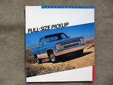 1986 Chevrolet Pickup Truck Brochure