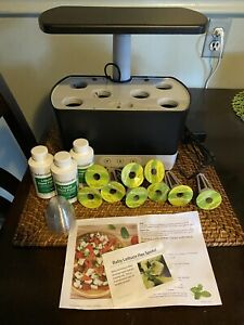 AeroGarden Harvest In-Home Hydroponic 6-pod Garden System Black with 9 seed pods