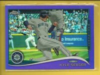 Kyle Seager 2014 Topps Chrome Purple Refractors Card # 106 Mariners Baseball MLB
