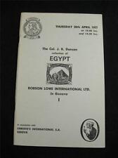 "Christie's robson lowe auction catalogue 1977 egypte ""col j r danson"" collection"