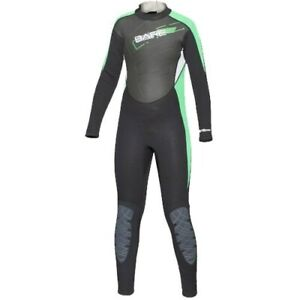 BARE JUNIOR MANTA 3/2MM WETSUIT YOUTH SCUBA DIVING WETSUIT BLK/GRN YOUTH 10