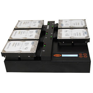 SySTOR 1:4 SATA Flatbed Hard Disk Drive HDD SSD Duplicator Sanitizer-600MB/sec