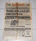 Tuttosport MONDIALI SPAGNA 1982 Anche la Nazionale sciopera 26 giugno Italia