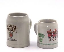 VINTAGE DINKEL ACKER WEST GERMANY CERAMIC BEER MUGS / STEINS 0.5L & 0.3L LITER
