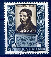 ITALIA 1953 - MICROBIOLOGIA  NUOVO  **