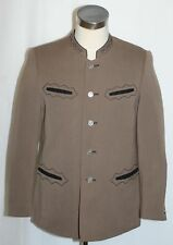 "BROWN ~ BOILED WOOL Men German Club Western Riding Hunting JACKET Coat / 41"" M"
