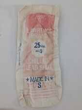 Antique Lawrence Brand Chilled Lead Shot 25 lbs. No. 8 Shot of Champions Bag