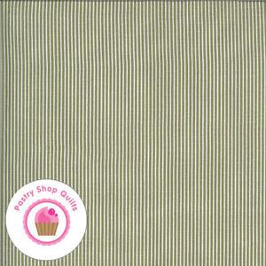 Moda FOLKTALE 5125 15 Olive Green Striped LELLA BOUTIQUE Quilt Fabric