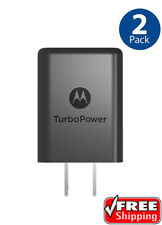 Motorola SPN5970A TurboPower 15+ QC 3.0 Wall Charger Adapter NEW 2 PACK OEM