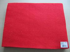 Red Acrylic Felt with silver glitter finish 23 x 30 cm AF02/29 Craft Factory