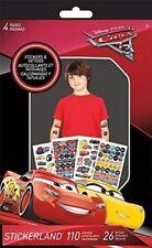 Disney Cars 3 Movie Stickers & Tattoo Book Stickereland