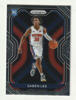 2020-21 Panini Prizm  Basketball Base Rookie RC Saben Lee Detroit Pistons #261