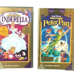 Disney Cinderella & Peter Pan ~ COLLECTOR'S EDITION ~ VHS Tape, Limited Release