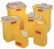 """Chemotherapy Sharps Container 1pc 105 LX755 WX1193 H"""" 3Gall Yellow BaseCase12"""