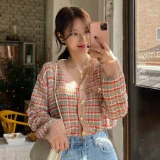 Long Sleeve Women's Knit Cardigan Outwear Sweater Loose Fit Korean Fashion Coat